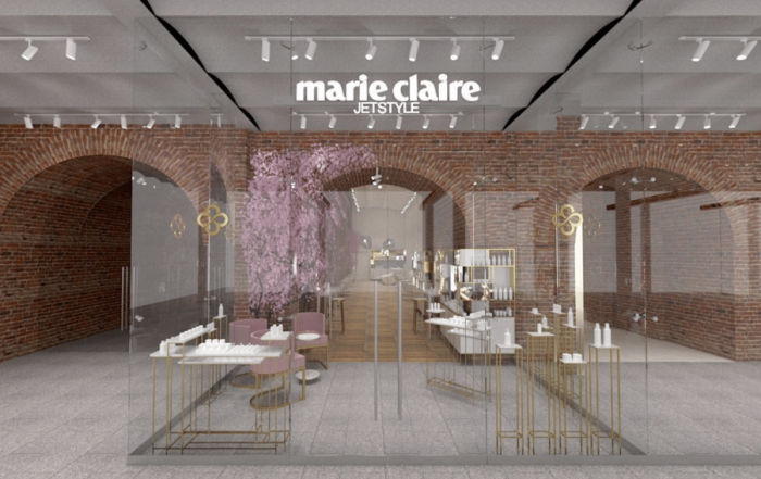 Marie Claire Jey Style - CGI of London St Pancras Store